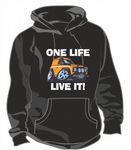 ONE LIFE LIVE IT Funny Novelty Koolart Design For Land Rover Defender Unisex Hoodie